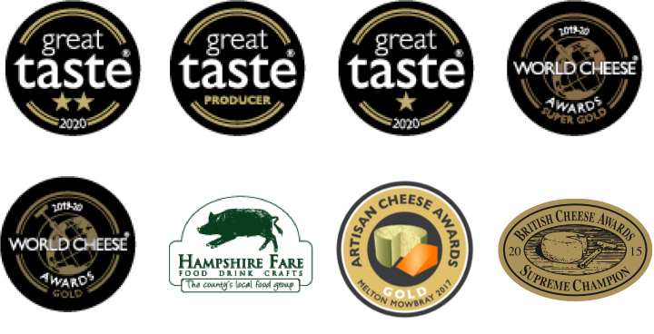 A list of awards Two Hoots have won for their handmade blue cheese.