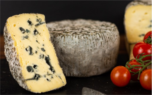 Baby Barkham is an award winning UK blue cheese created by Two Hoots Cheese.